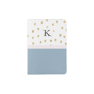 O azul francês cora bloco cor-de-rosa da cor do capa para passaporte