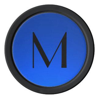 O azul preto desvanece-se microplaquetas de póquer ficha de poquer