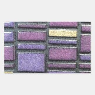 O azulejo roxo e azul Remix Adesivo Retangular
