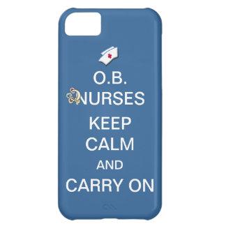 O.B. As enfermeiras mantêm a calma+Azul-céu de Capa Para iPhone 5C