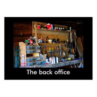 O back office modelo cartões de visitas