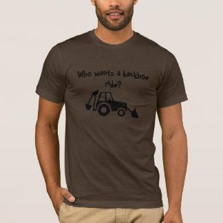 o backhoe_lrg, quem quer um passeio do backhoe? tshirts