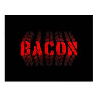 O bacon desvanece-se cartão postal
