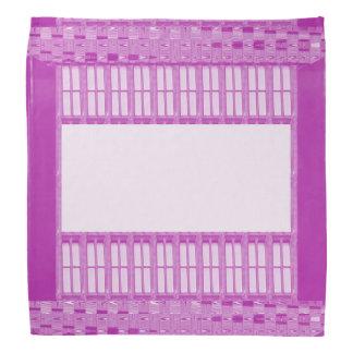 """O BANDANA 19"""" rosa quadrado do modelo DIY adiciona"""