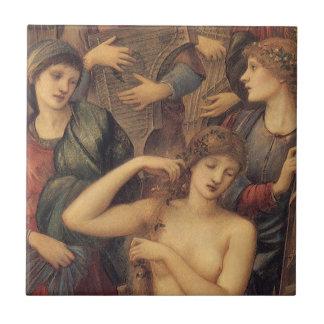 O banho de Venus pelo senhor Edward Pescada Burne Azulejo Quadrado Pequeno