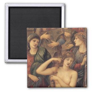 O banho de Venus pelo senhor Edward Pescada Burne Ímã Quadrado