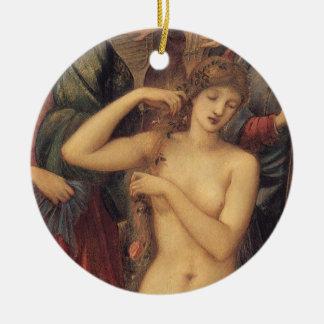 O banho de Venus pelo senhor Edward Pescada Burne Ornamento De Cerâmica Redondo