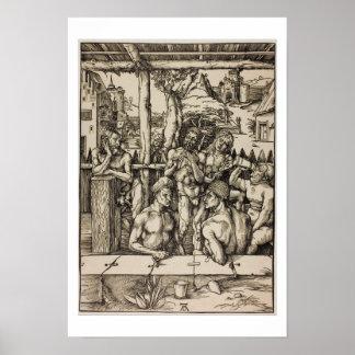 O banho dos homens por Albrecht Durer Posteres