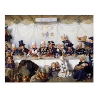 O banquete do casamento cartão postal