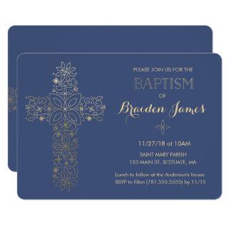 O baptismo, convite do batismo, cruz do ouro