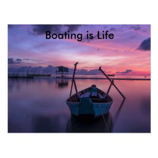 O barco é cartão da vida