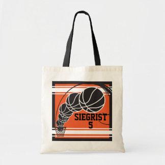 O basquetebol alaranjado | personaliza bolsa tote