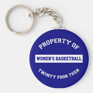 O basquetebol das mulheres chaveiro