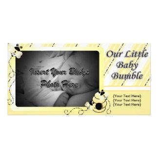 O bebê Bumble o anúncio Cartão Com Foto