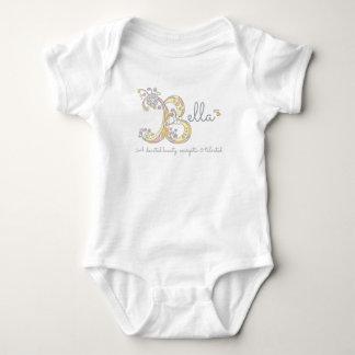 O bebê conhecido do monograma do significado das body para bebê