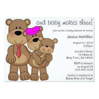 O bebê de três ursos faz três chás de fraldas