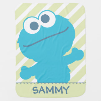 O bebê do monstro do biscoito   adiciona seu nome cobertor de bebe