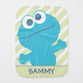 O bebê do monstro do biscoito   adiciona seu nome paninhos para bebês