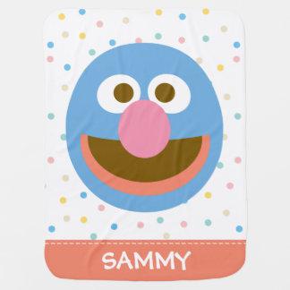 O bebê Face  grande de Grover adiciona seu nome Cobertores Para Bebe