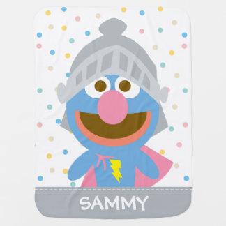 O bebê Grover na armadura   adiciona seu nome Manta De Bebe