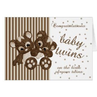 O bebê novo junta parabéns - cartão novo do bebê -