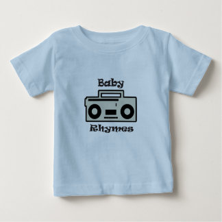 O bebê rima camisa infantil
