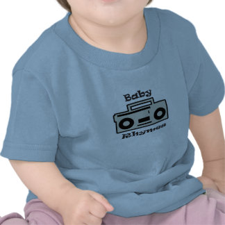 O bebê rima camisa infantil t-shirt