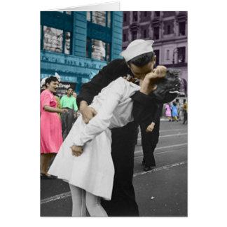 O beijo cartão comemorativo