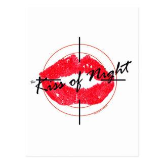 O beijo da noite cartão postal