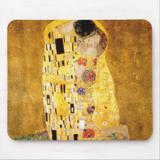 O beijo Gustavo Klimt Mouse Pad