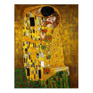 O beijo por Gustavo Klimt Cartoes Postais