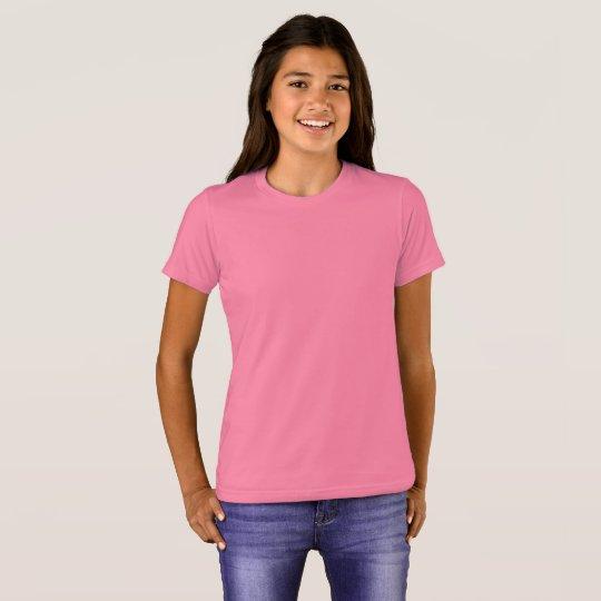 Camiseta infantil feminina da Bella+Canvas, Neon Pink