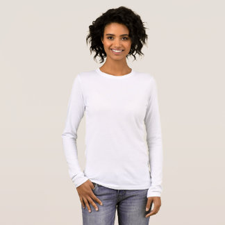O Bella das mulheres+T-shirt longo da luva das Tshirts