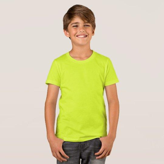 Camiseta infantil da Bella+Canvas, Amarelo Neon