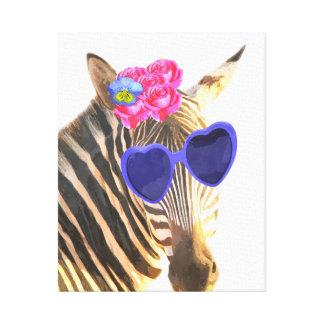 O berçário animal da selva engraçada bonito da impressão em tela
