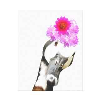O berçário engraçado bonito do animal de fazenda impressão em canvas