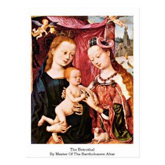 O Betrothal pelo mestre do altar de Bartholomew Cartão Postal