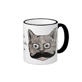 o bigode do gato caneca com contorno