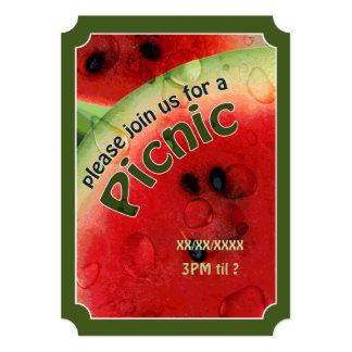 O bilhete fresco da melancia do piquenique do convite 12.7 x 17.78cm