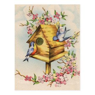 O Birdhouse Cartão Postal
