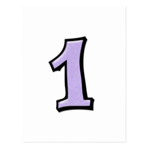 O bobo numera 1 cartão da lavanda cartão postal