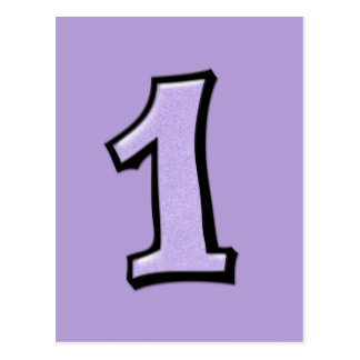 O bobo numera 1 cartão da lavanda cartoes postais