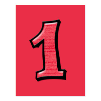 O bobo numera 1 cartão vermelho cartao postal