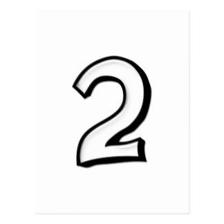 O bobo numera o cartão de 2 brancos cartao postal