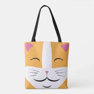 O bolsa alaranjado & branco do gato