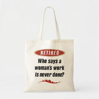 O bolsa aposentado da mulher