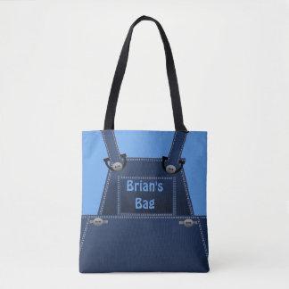 O bolsa azul popular do costume dos macacões de