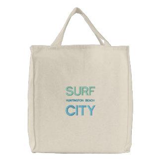 O bolsa/bolsa de praia da CIDADE do SURF Bolsas De Lona