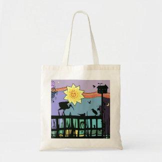 O bolsa colorido da ilustração dos pássaros de