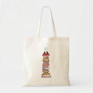 O bolsa cor-de-rosa da pilha de livro da limonada